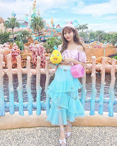 夏コーデ(ディズニー遊園地)の画像 プリ画像