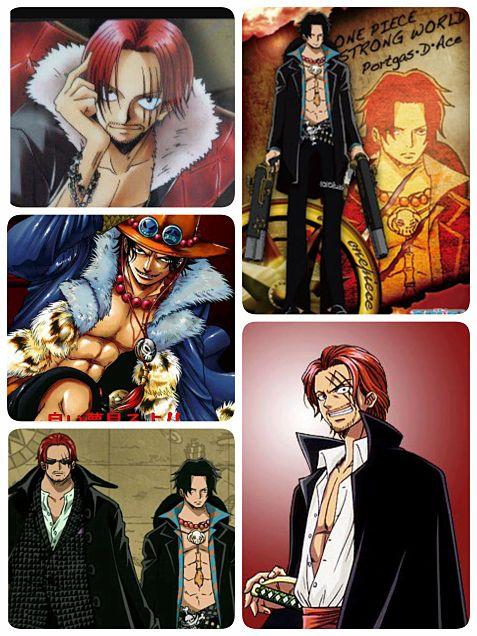 赤髪のシャンクス&火拳のエースの画像(プリ画像)