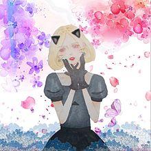 花と女の子(楼花)オリジナルキャラ加工の画像(イラスト 加工に関連した画像)