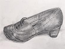 下手くそだけど靴をデッサンの画像(靴に関連した画像)