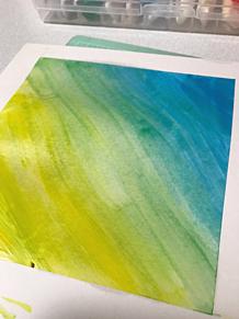 絵の具でグラデ練習の画像(絵の具に関連した画像)