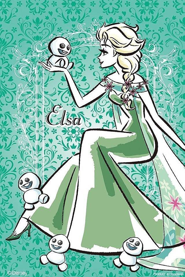 緑のエルサの壁紙