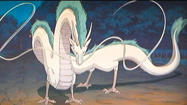 ゼニーバの元へ迎えに来てくれた竜の姿のハク