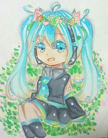 お花ミクたん(❁´ω`❁)の画像(プリ画像)