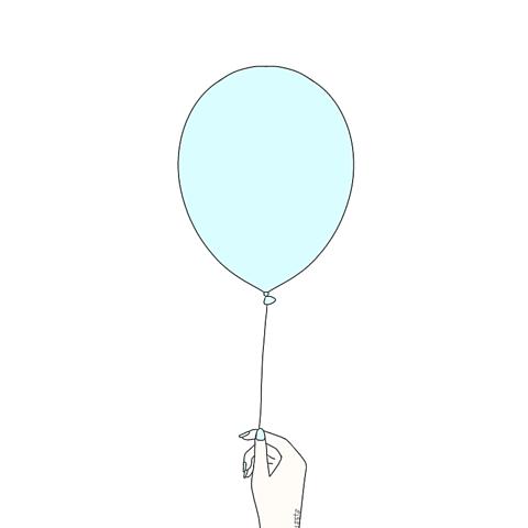 風船のペア画の画像(プリ画像)