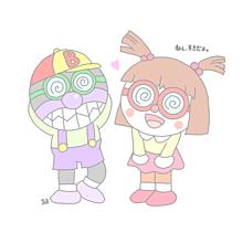 保存→いいねの画像(イラスト ドキンちゃん バイキンマン パステルに関連した画像