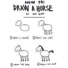 可愛い!馬の書き方の画像(プリ画像)