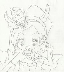 『プリキュア』キュアパルフェ【線画】の画像(キュアパルフェに関連した画像)
