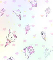 キティちゃんで壁紙作ってみた(öᴗ<๑)の画像(キティちゃんに関連した画像)