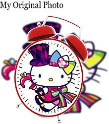 キティちゃんで目覚まし時計加工してみた(öᴗ<๑)の画像(時計に関連した画像)