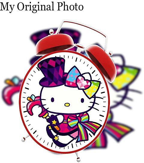 キティちゃんで目覚まし時計加工してみた(öᴗ<๑)の画像 プリ画像