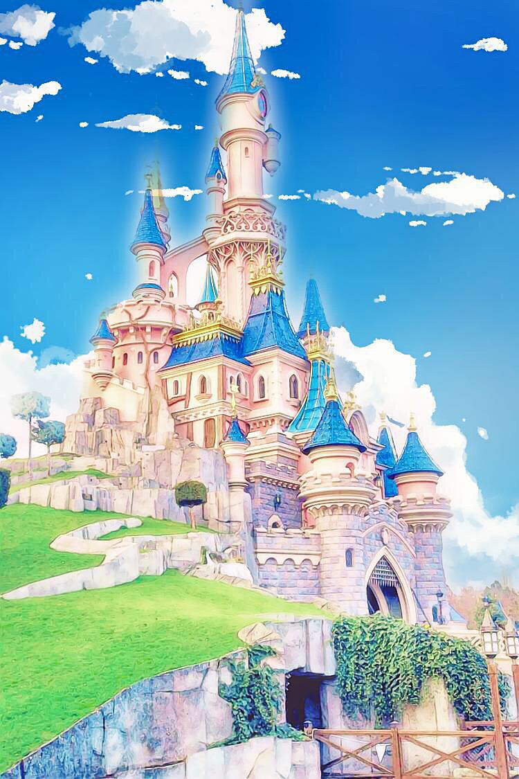 描かれているシンデレラ城