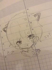 黒猫キヨを落書きの画像(プリ画像)