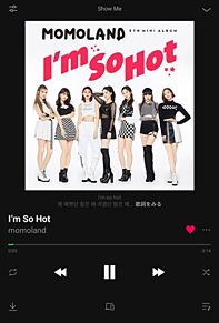 MOMOLAND 〜I'm So Hot〜 音楽アプリ風の画像(HOT!に関連した画像)