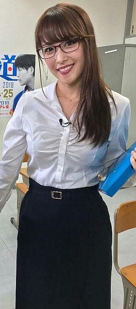 鷲見玲奈アナの女教師コスチュームの画像(プリ画像)