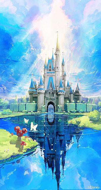ディズニー シンデレラ城の画像(プリ画像)