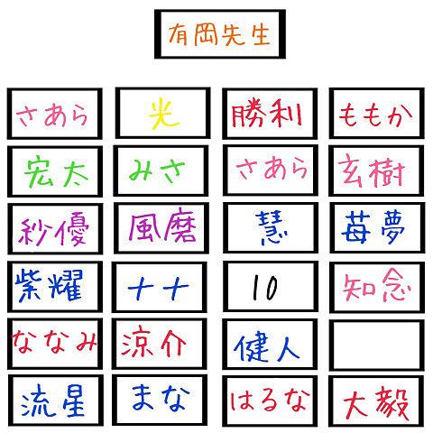 改良版座席表の画像(プリ画像)