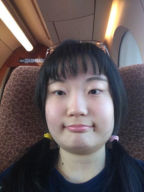 私と私の友達と久しぶりに会った時の写メと学校の帰り、南海本線乗るの画像(プリ画像)