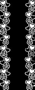 キンブレ 素材 ハート 薔薇 フレーム 背景透明の画像(ハート 透明に関連した画像)