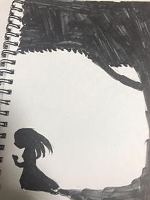 闇と少女 プリ画像