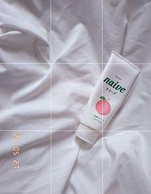 朝いちでとった韓国っぽい洗顔料#白加工#白#エモい#レトロ プリ画像
