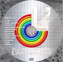 L'Arc〜en〜Ciel 25th CDラベルの画像(ラルクに関連した画像)