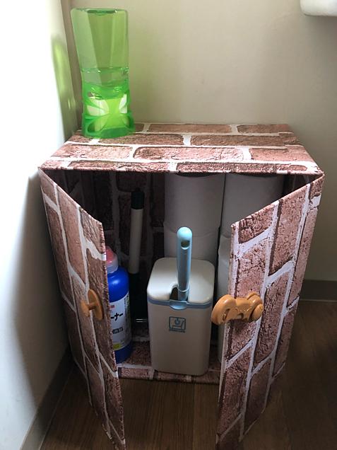 トイレの収納BOX手作りの画像(プリ画像)