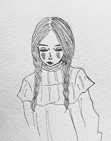 おさげ少女の画像(おさげに関連した画像)