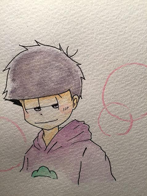 【初水彩!】一松の画像(プリ画像)