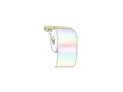 カラフルトイレットペーパー♥笑の画像(プリ画像)