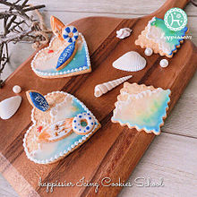 海をイメージしたアイシングクッキー  いいねを押してね!の画像(アイシングクッキーに関連した画像)