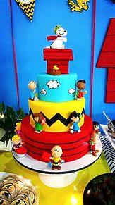 スヌーピー  ケーキ  写真右下のハートを押してね プリ画像