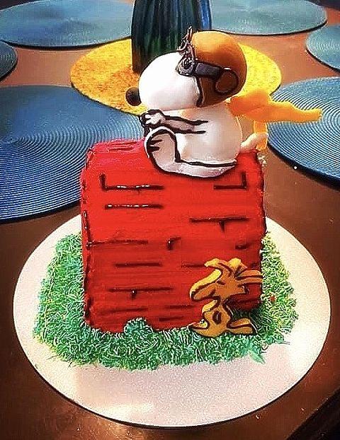 スヌーピー  ケーキ  写真右下のハートを押してねの画像 プリ画像