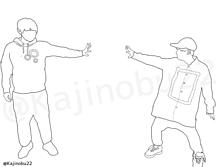 線画(梶裕貴&山下大輝)の画像(緑谷出久に関連した画像)
