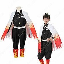 煉獄杏寿郎 (れんごくきょうじゅろう) 鬼殺隊隊服 子供用 コスの画像(衣装に関連した画像)