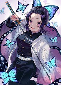 鬼滅の刃胡蝶しのぶイラストかっこいい