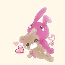 ウサギとクマの画像(ウサギ ぬいぐるみに関連した画像)