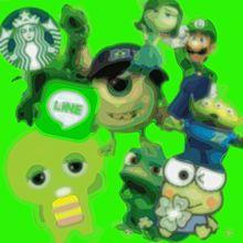 緑の画像(ガチャピンに関連した画像)