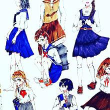 女子高生の画像(女の子イラストに関連した画像)