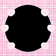チェック ピンク キラキラ✨ ハート フレームの画像(#背景透過に関連した画像)
