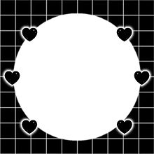 ♡ ハート フレーム 黒白 背景透過 透過素材 の画像(背景透過 スタンプに関連した画像)