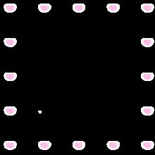 フレーム ハート♡ ピンク&ホワイト スタンプ 背景透過の画像(#背景透過に関連した画像)