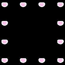 フレーム ハート♡ ピンク&ホワイト スタンプ 背景透過の画像(背景に関連した画像)