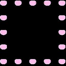 フレーム ピンク ハート♡ スタンプ 背景透過 透過素材の画像(♡スタに関連した画像)