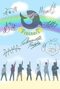 Fischer's第2弾.-背景は海を書いてみました。 プリ画像