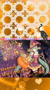 初音ミク ハロウィン ロック画面&ホーム画面の画像(オレンジに関連した画像)