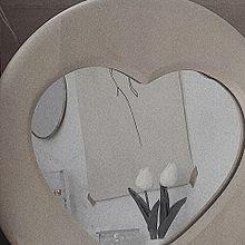 インテリアの画像(鏡、ハートに関連した画像)