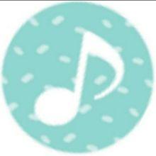 音符(緑、青、紫)の画像(音楽 マークに関連した画像)