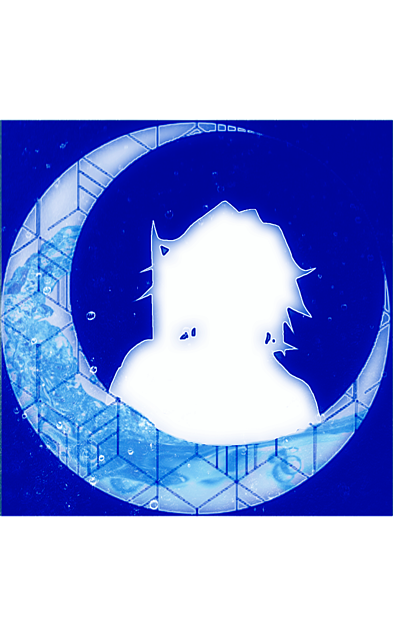 冨岡義勇(ネオン風月加工)の画像(プリ画像)