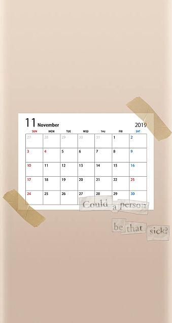 11月カレンダー      保存はいいね👍の画像 プリ画像